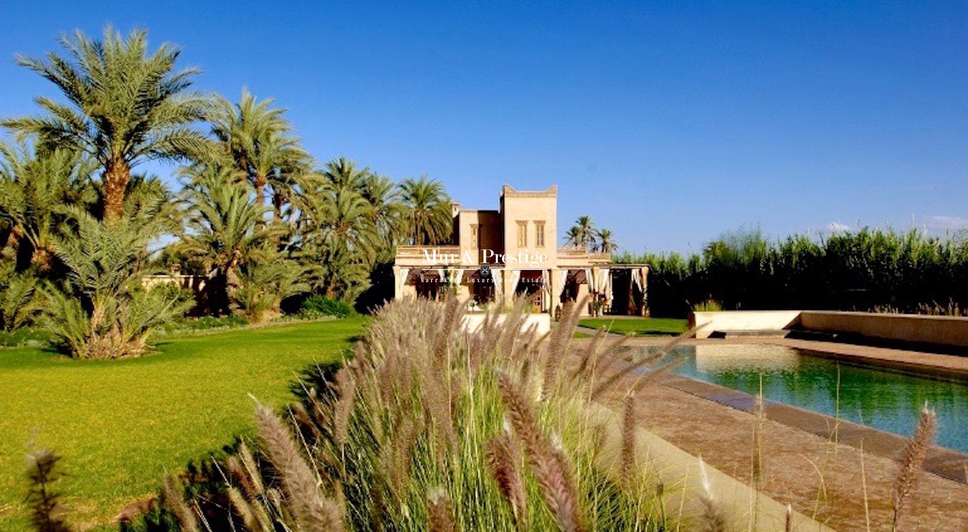 Maison à vendre dans la Palmeraie Marrakech