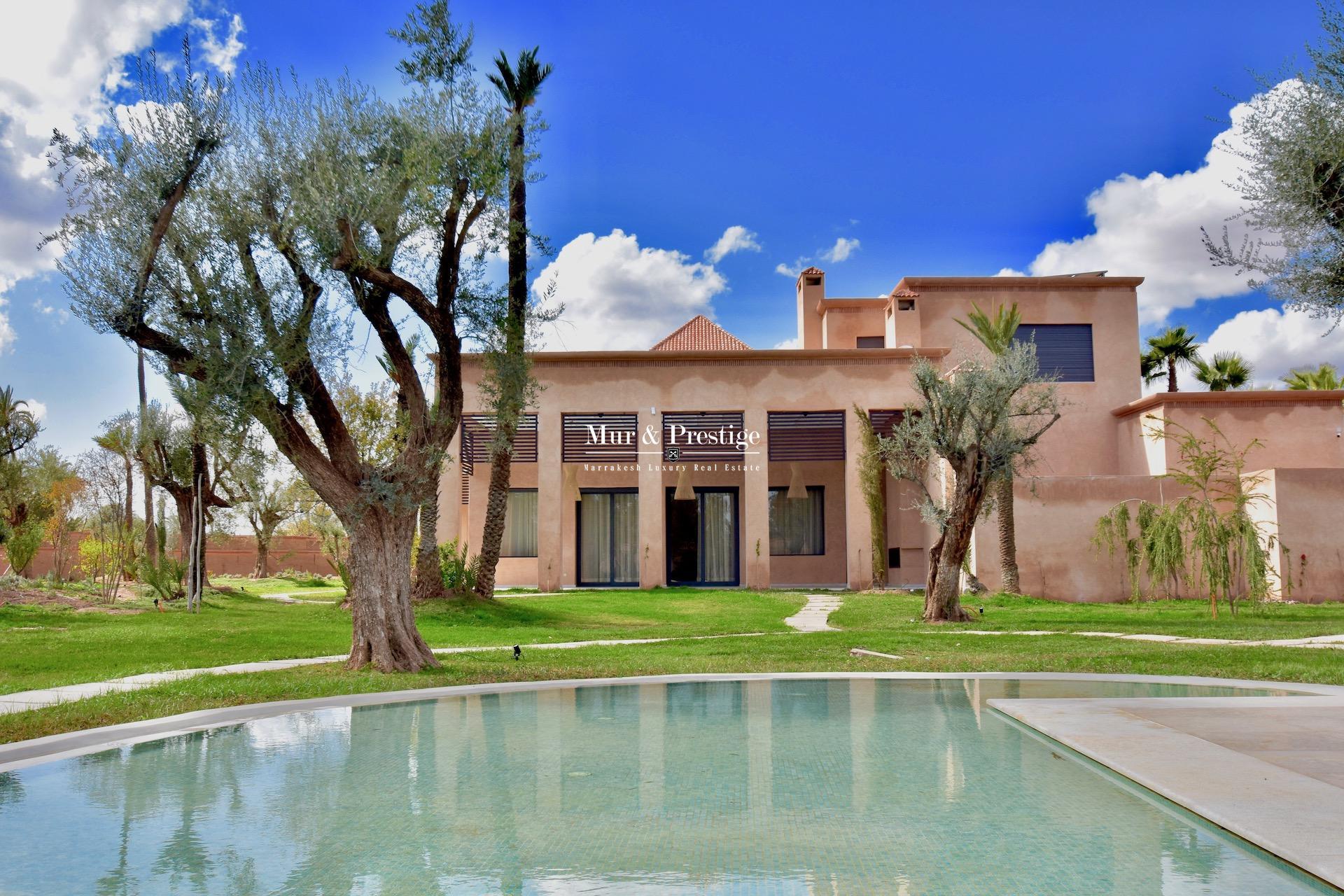 Maison neuve à vendre dans la Palmeraie de Marrakech