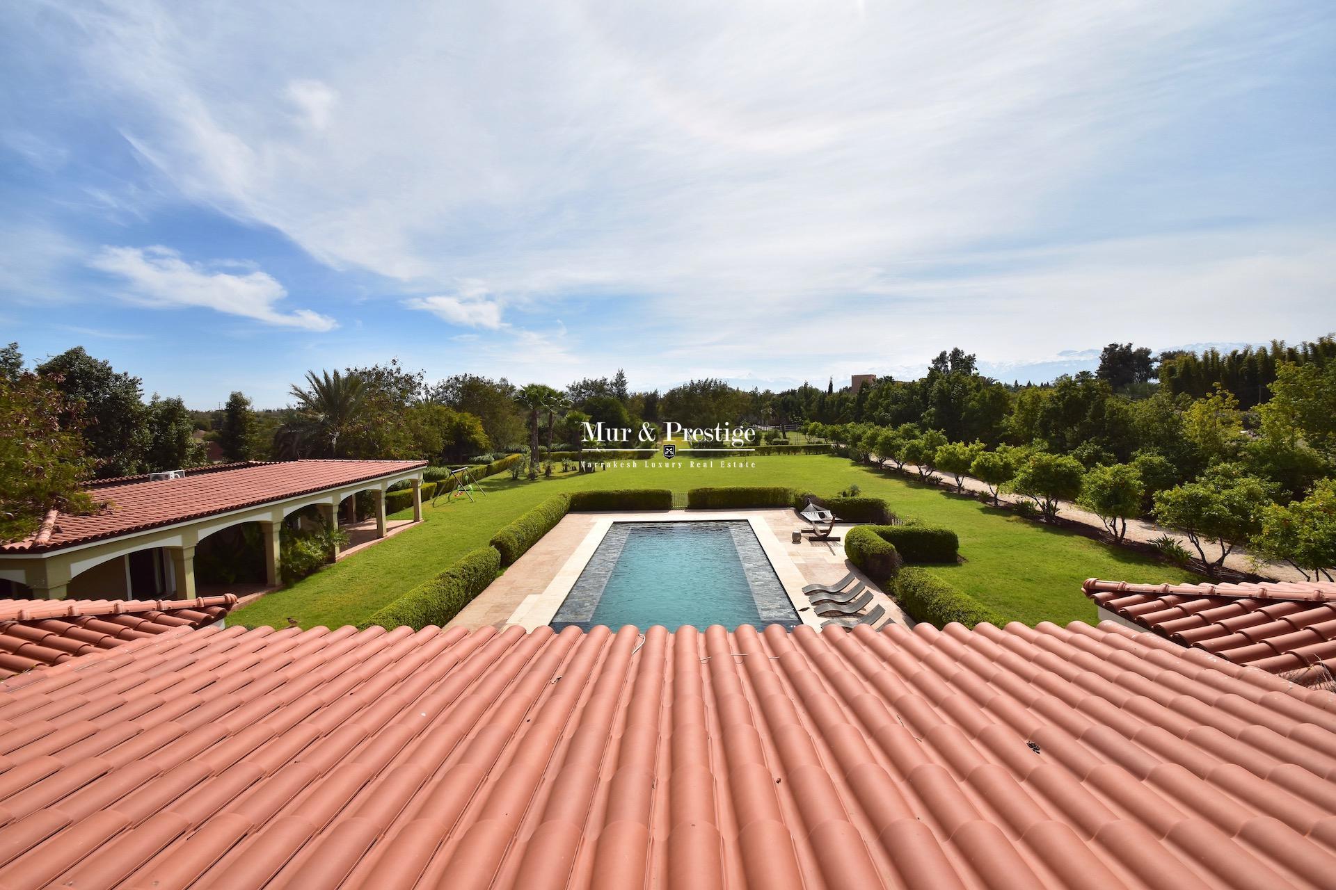 Agence Immobilière Marrakech - Maison à louer proche du Fairmont Royal Palm