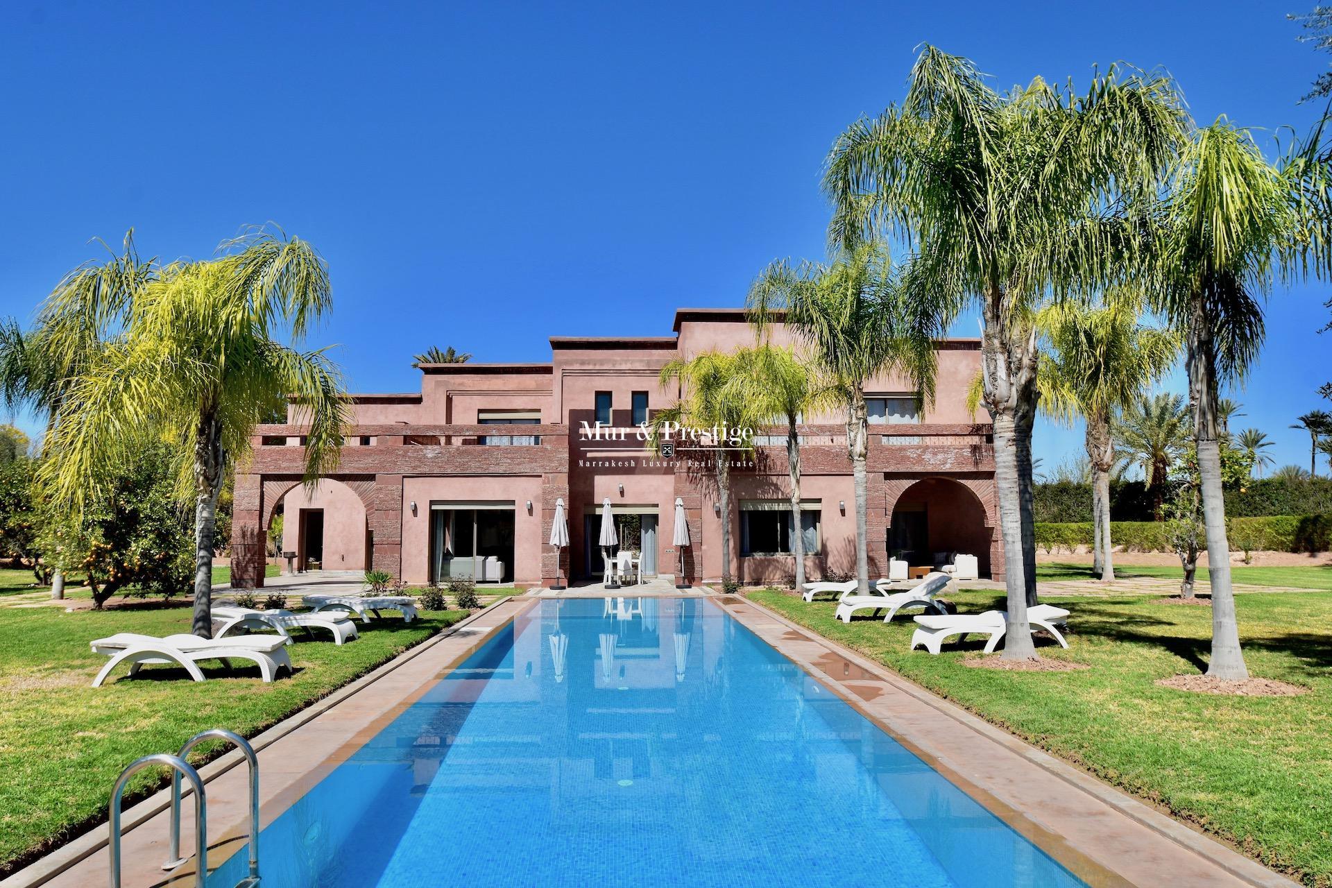 Agence immobilière Marrakech – Maison moderne à louer à la Palmeraie