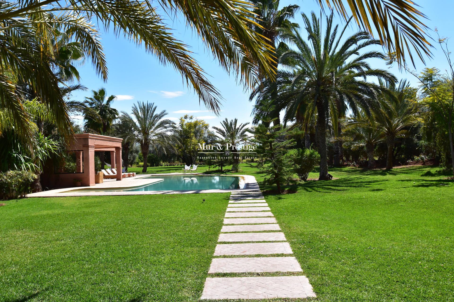 Agence immobilière à Marrakech – Maison en vente sur la route de l'Ourika