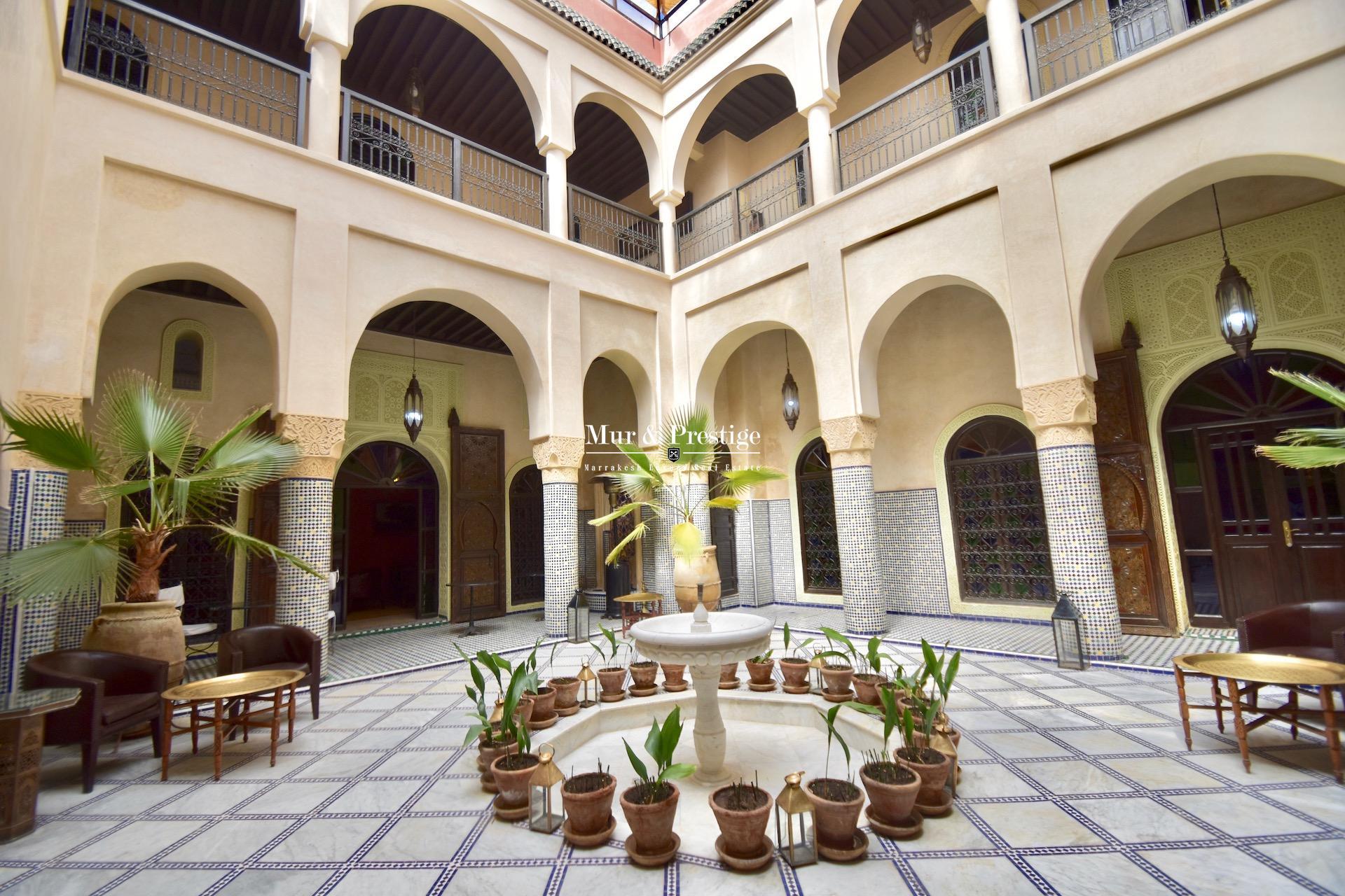 Riad de caractère à vendre à Marrakech - Agence Immobilière