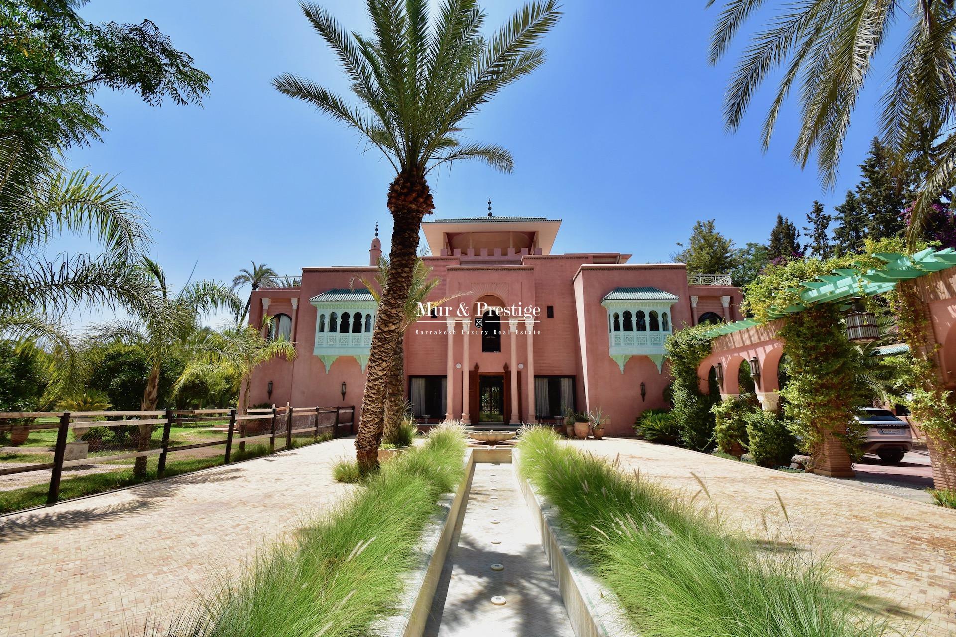 Maison à vendre à la palmeraie Marrakech