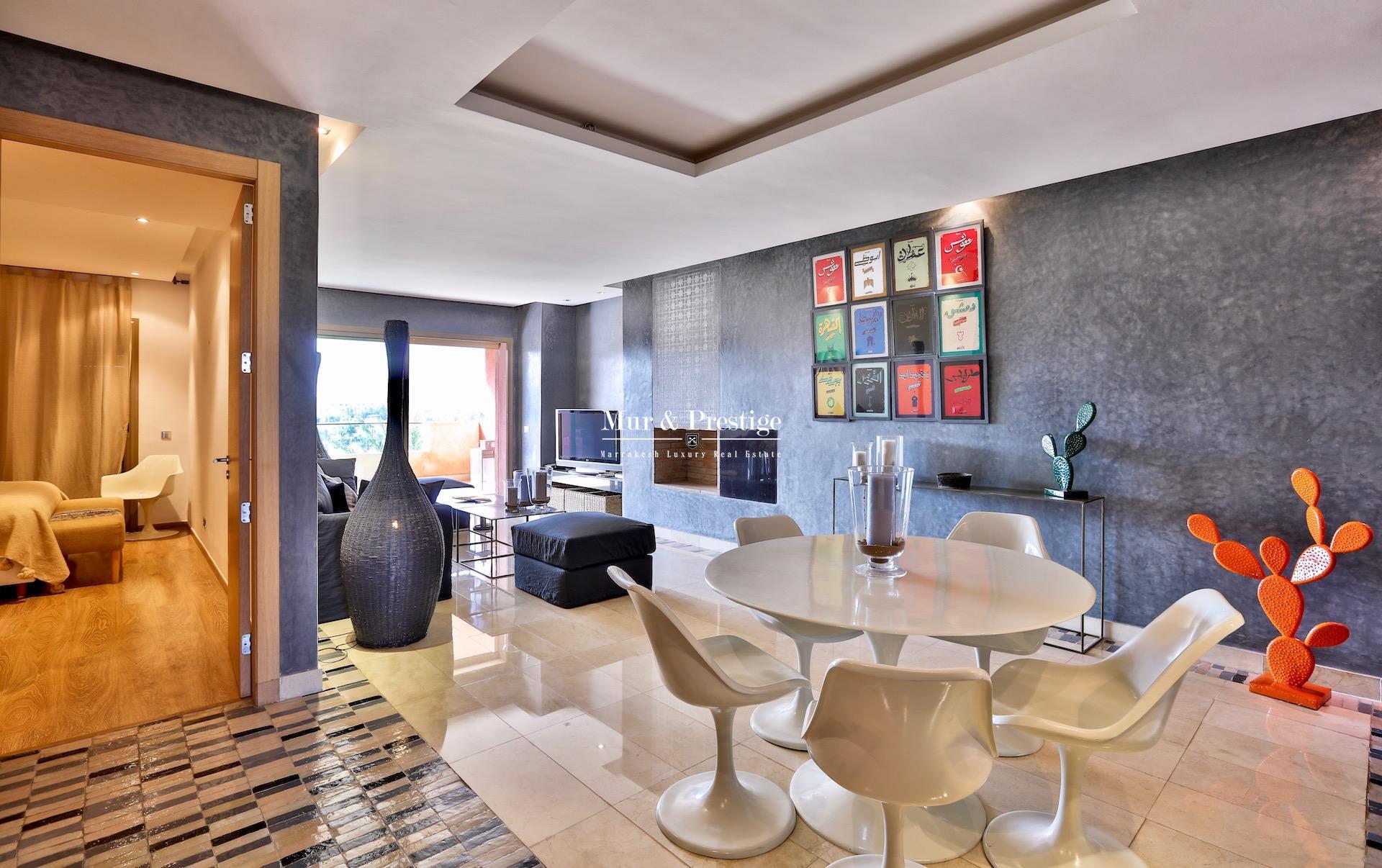 Appartement en 1èreligne de golf à vendre Marrakech