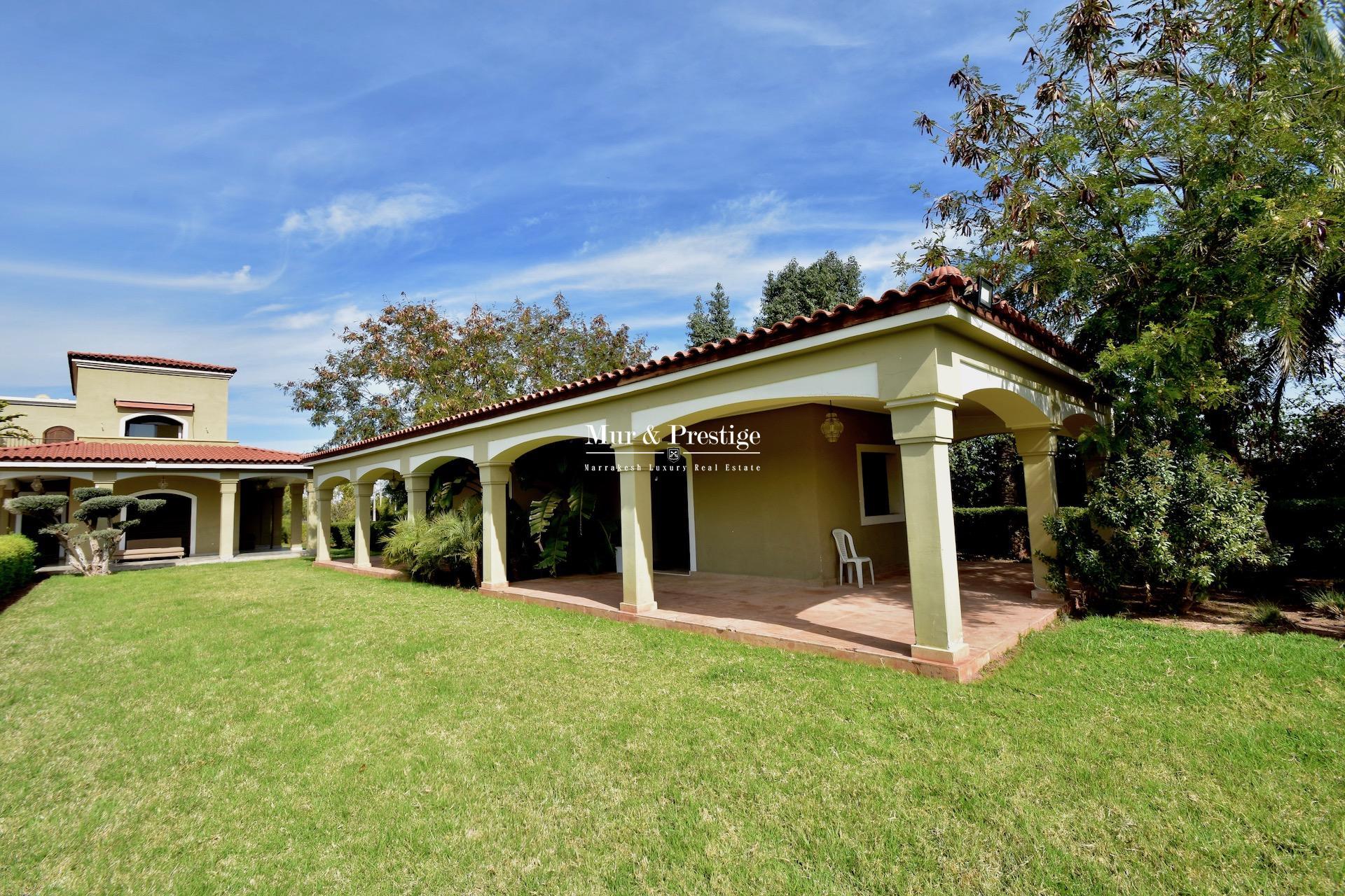 Agence Immobilière Marrakech - Maison à vendre proche du Fairmont Royal Palm