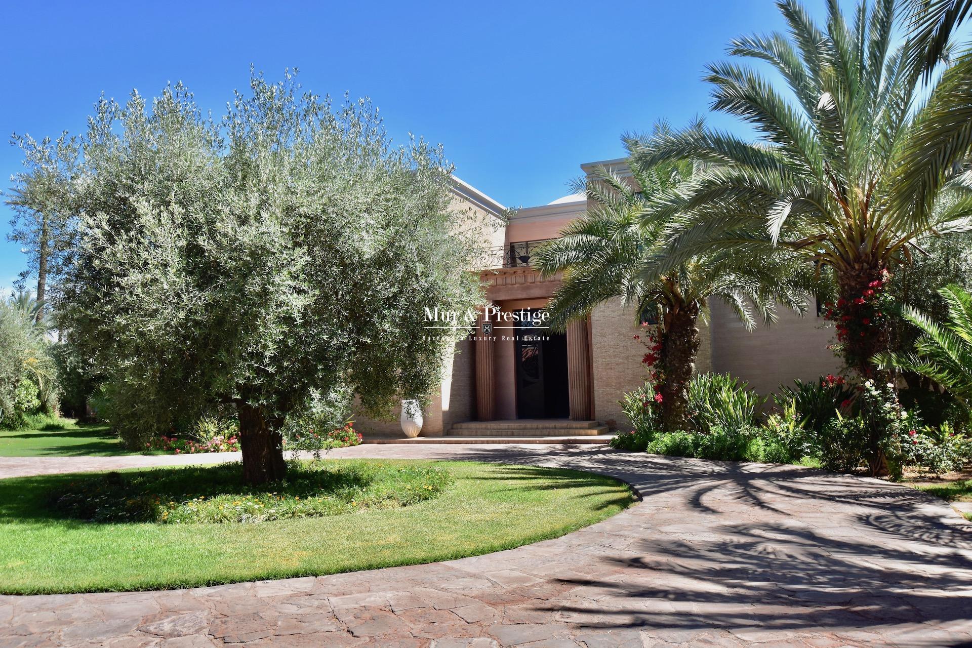 Villa de luxe à la vente à la Palmeraie de Marrakech