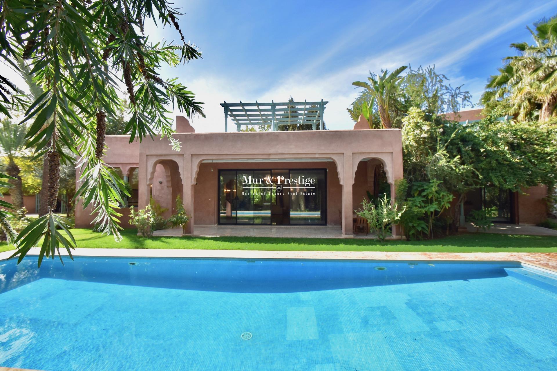 Agence immobilière Marrakech – Villa à vendre sur l'avenue Mohamed VI