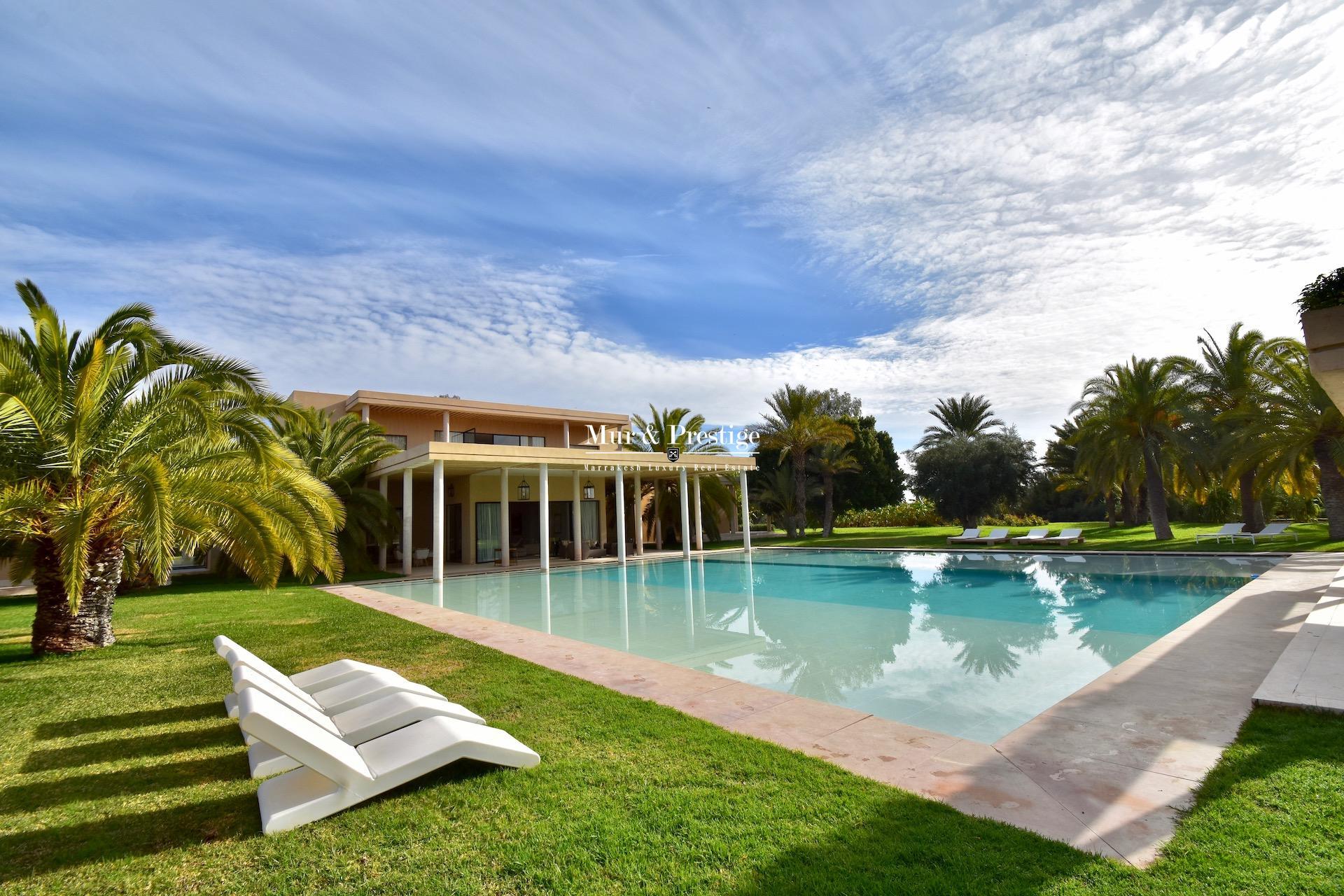 Agence immobilière à Marrakech – Maison de prestige à vendre