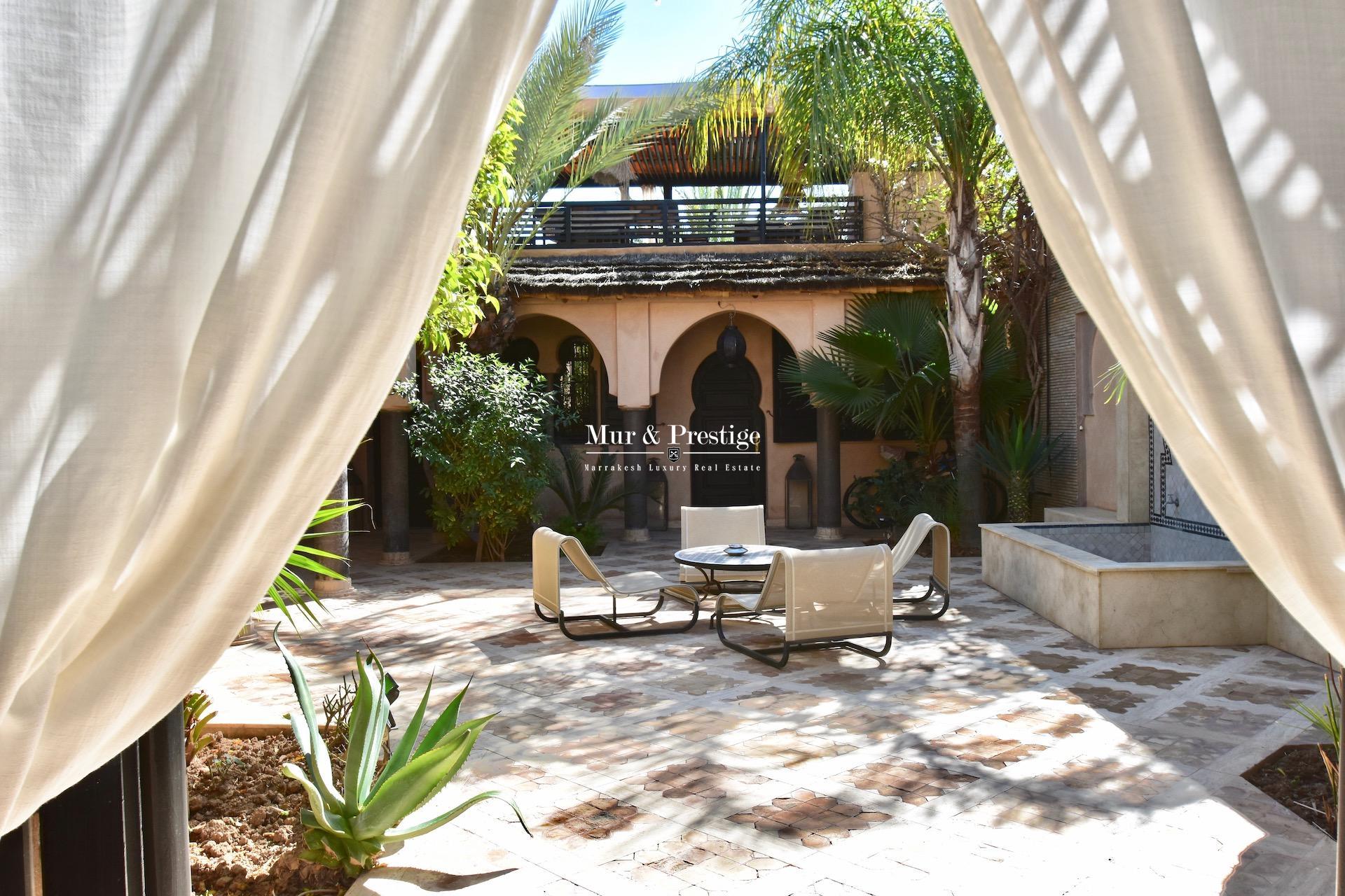 Agence immobilière à Marrakech – Maison de style riad à rénover à vendre
