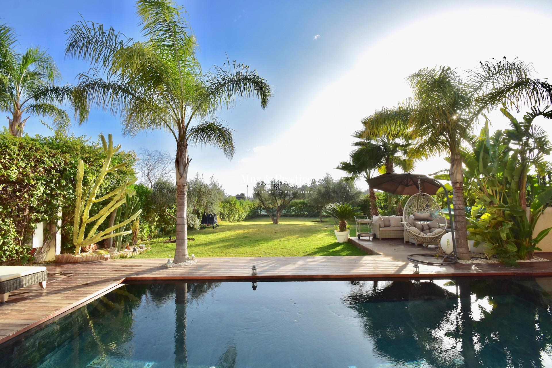Agence immobilière Marrakech - Maison en 1ère ligne de golf à vendre