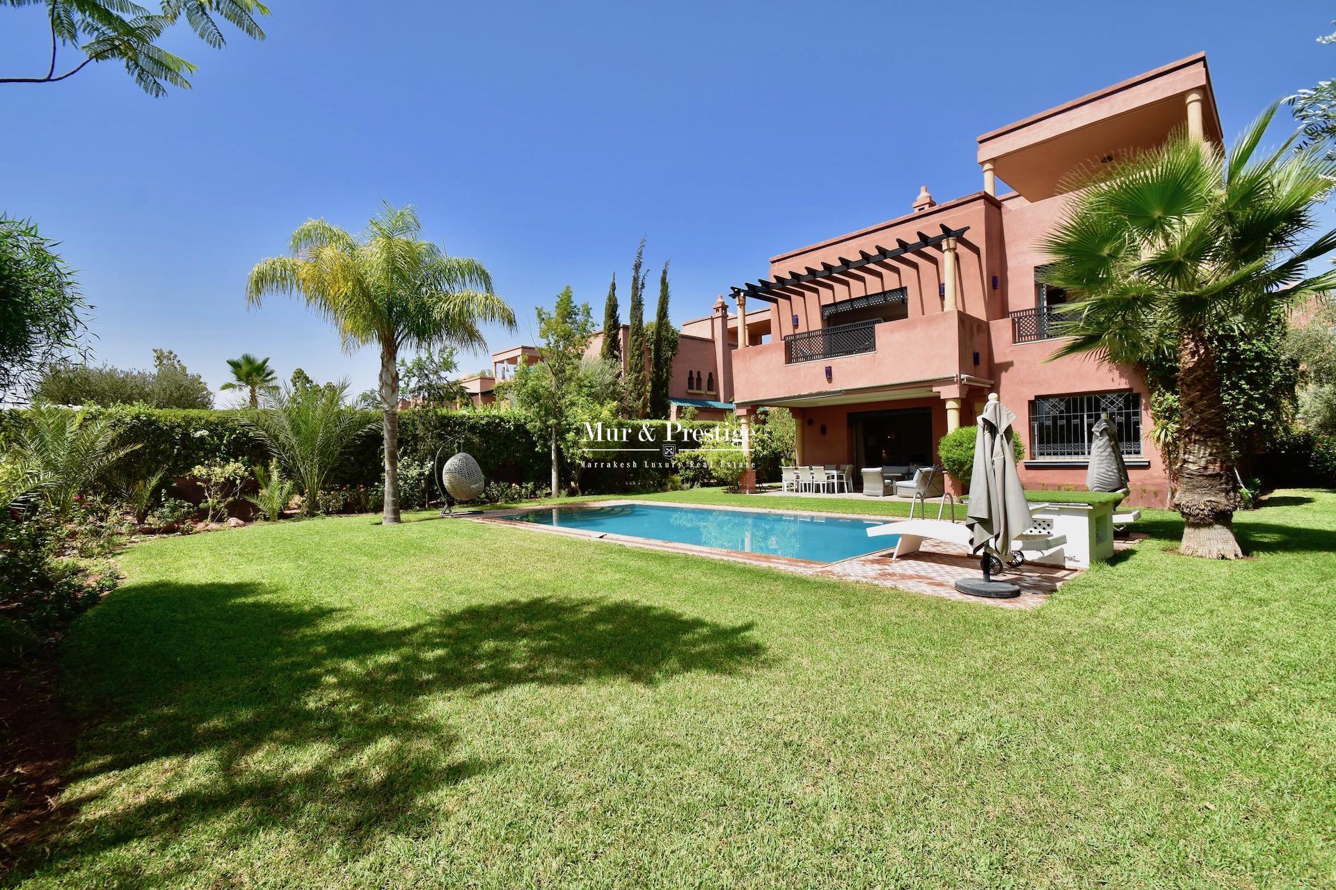 Villa à la vente à la Palmeraie de Marrakech