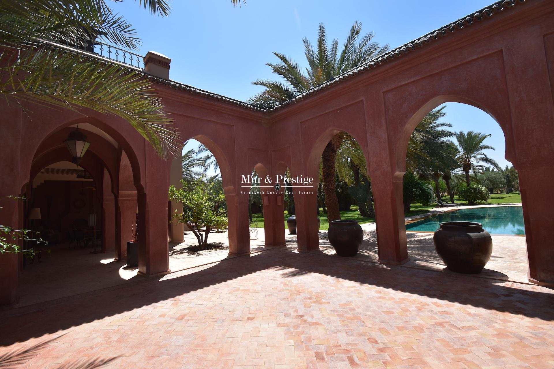 Agence Immobilière  Marrakech - Propriété en vente à la Palmeraie