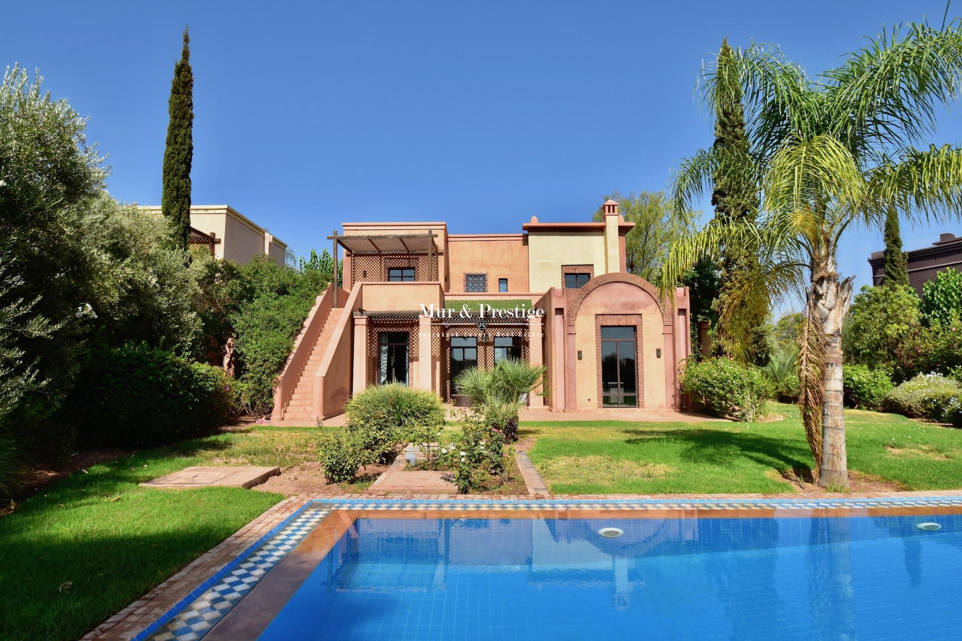 Villa à vendre en 1ère ligne de golf à Marrakech