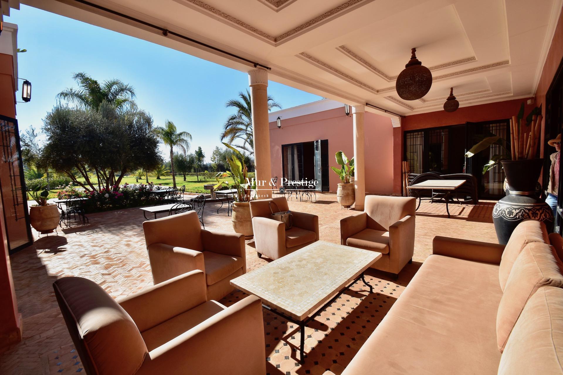 Agence immobilière Marrakech – Maison à vendre sur la route de Fes