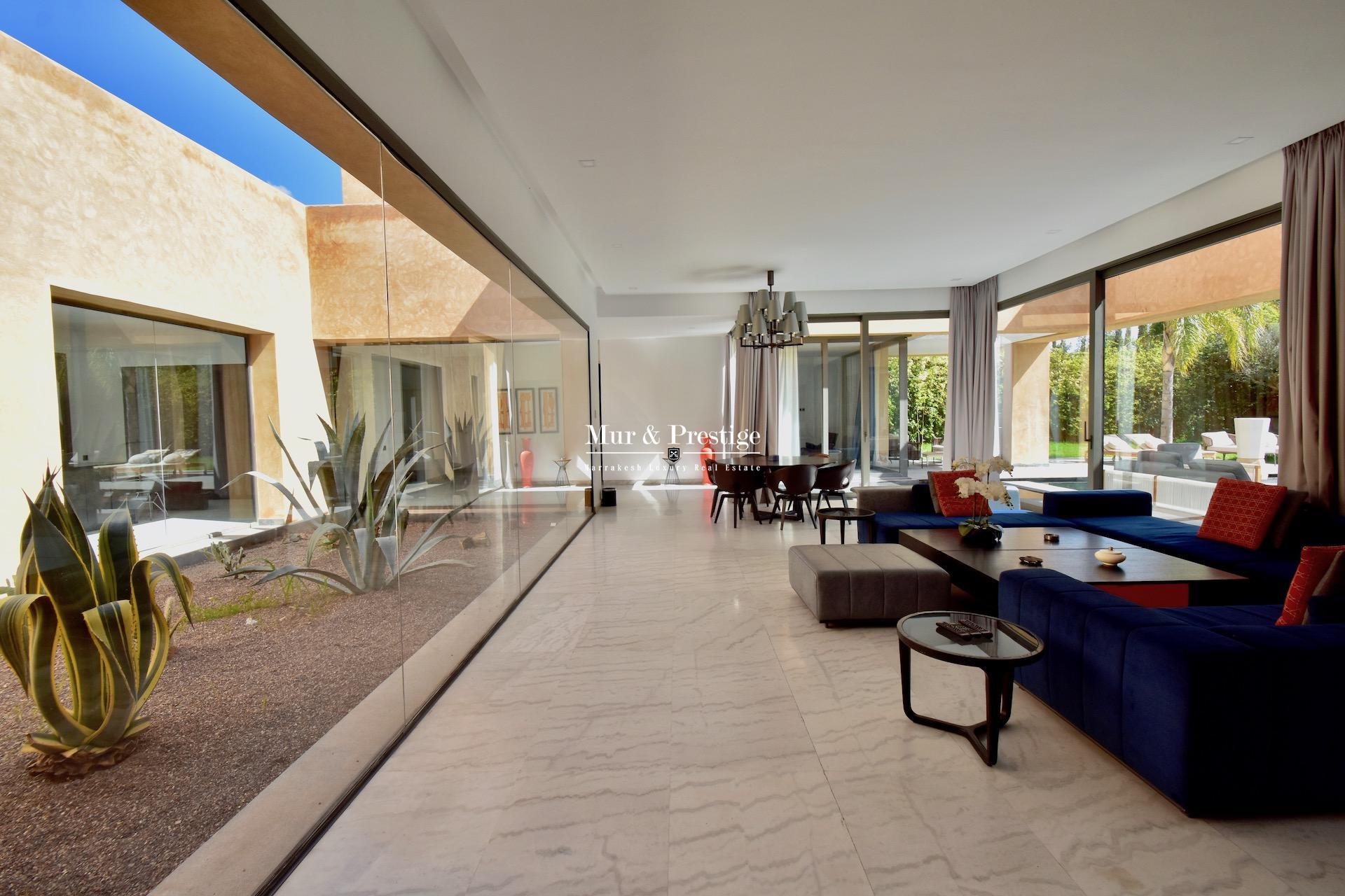 Agence immobilière Marrakech : Maison moderne à vendre