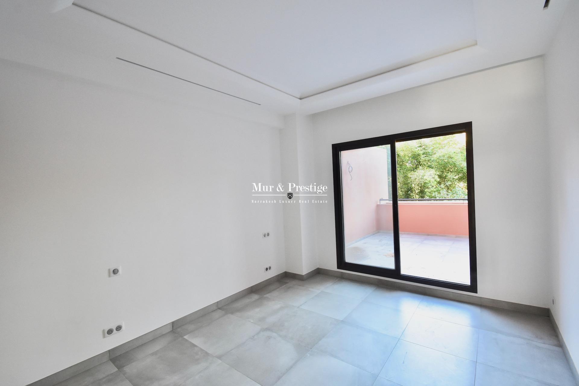 Vue jardin Majorelle, appartement neuf à vendre à Marrakech