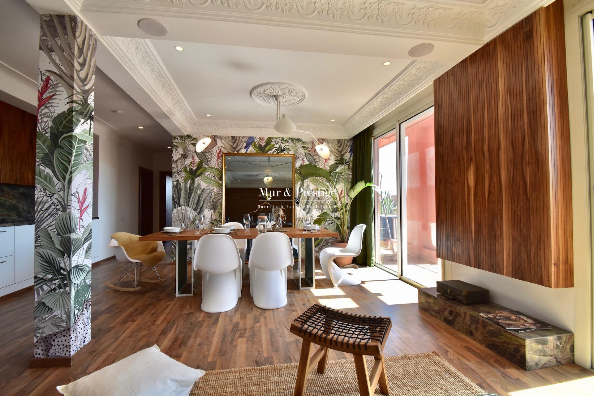 Appartement de luxe en vente quartier Hivernage Marrakech