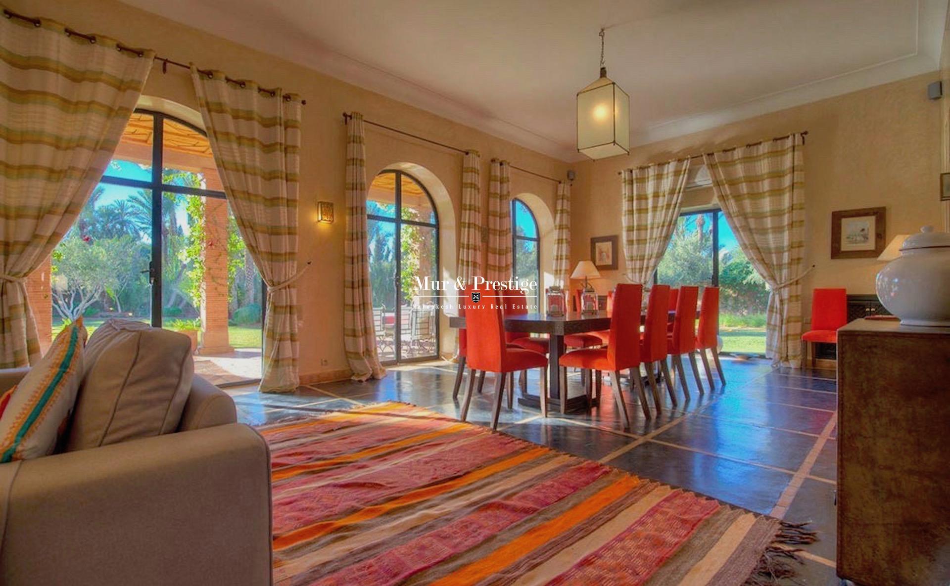 Villa à louer à la Palmeraie à Marrakech