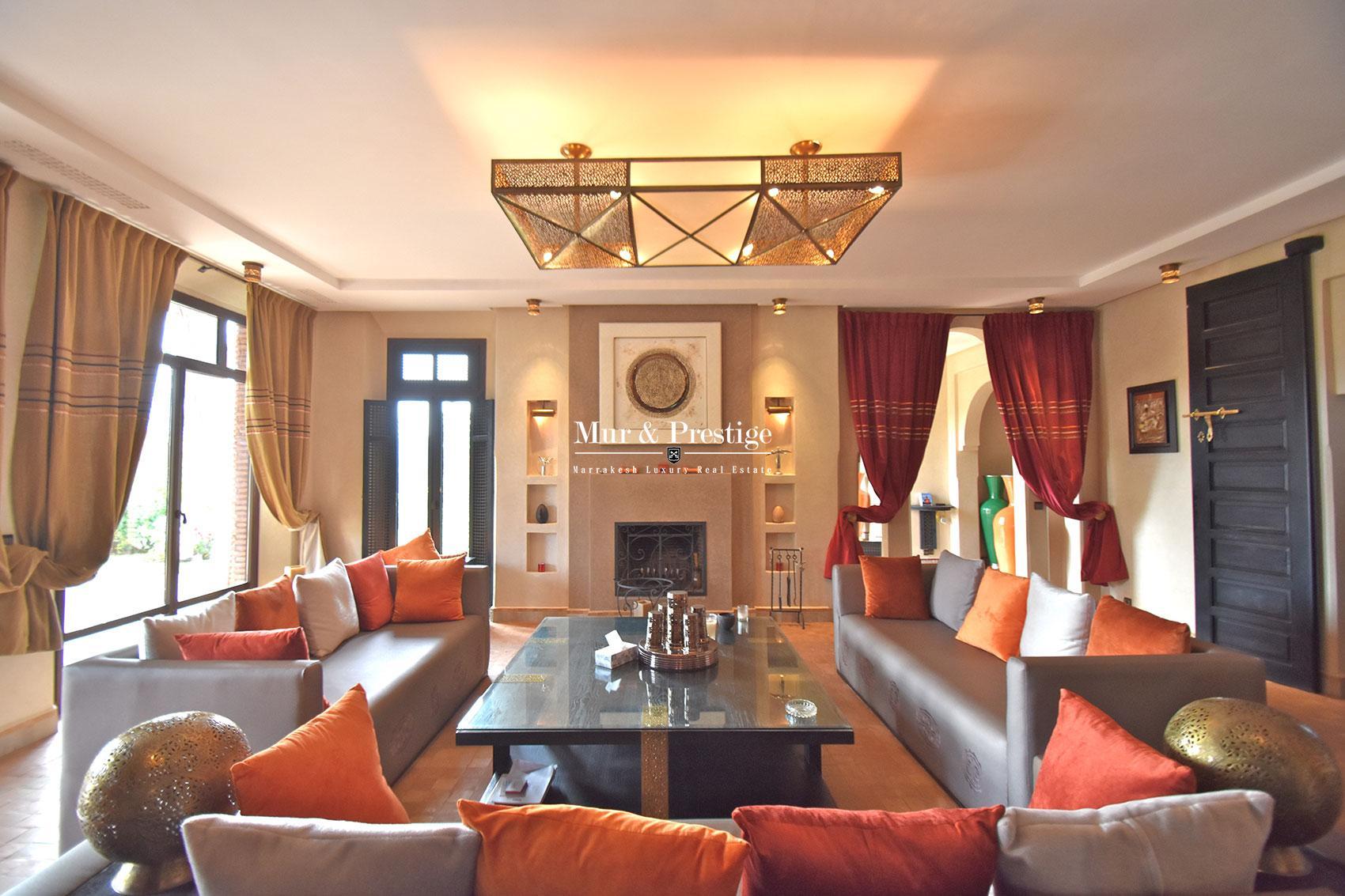 Maison contemporaine en vente sur golf Marrakech