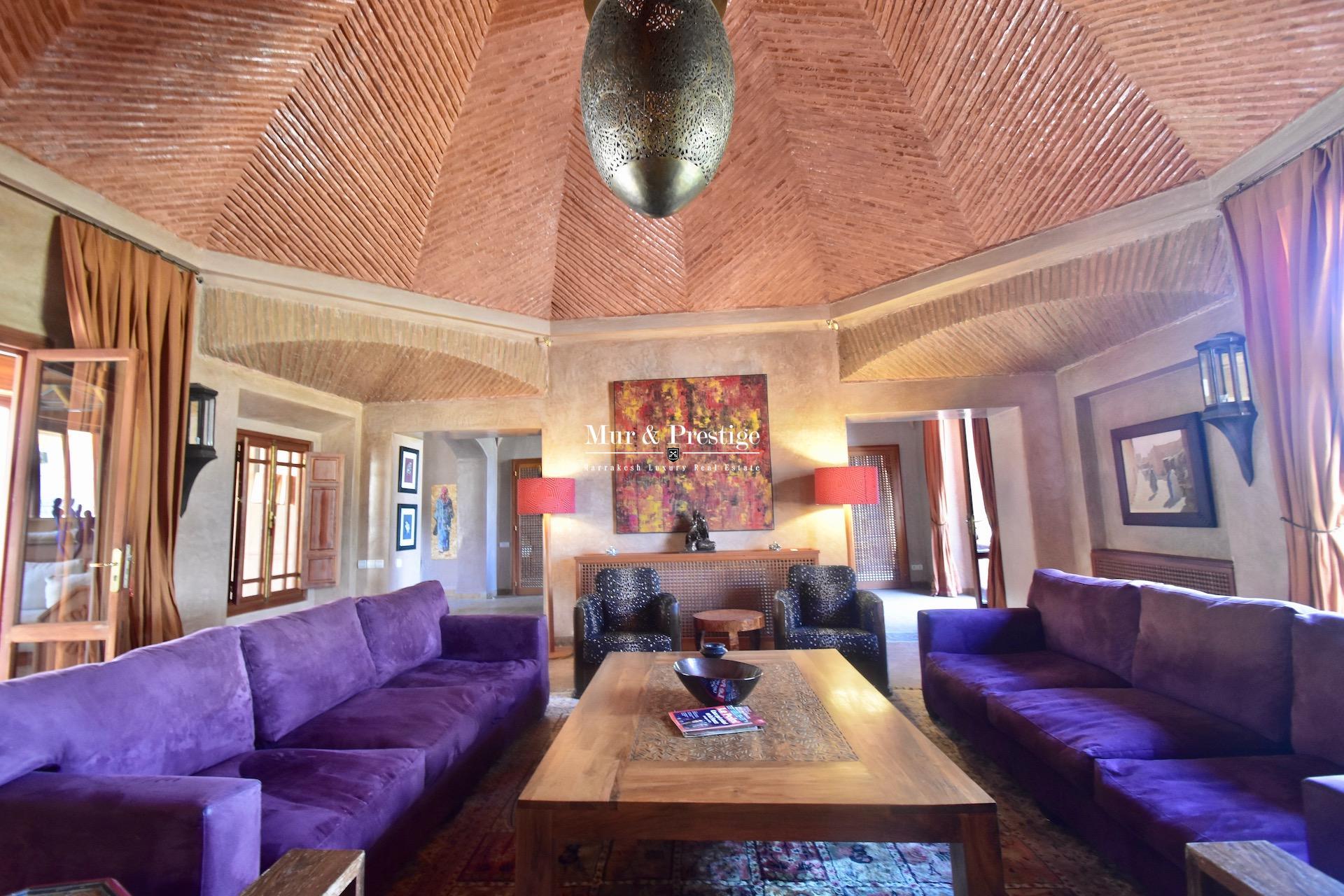 Maison de caractère à vendre au golf Amelkis de Marrakech