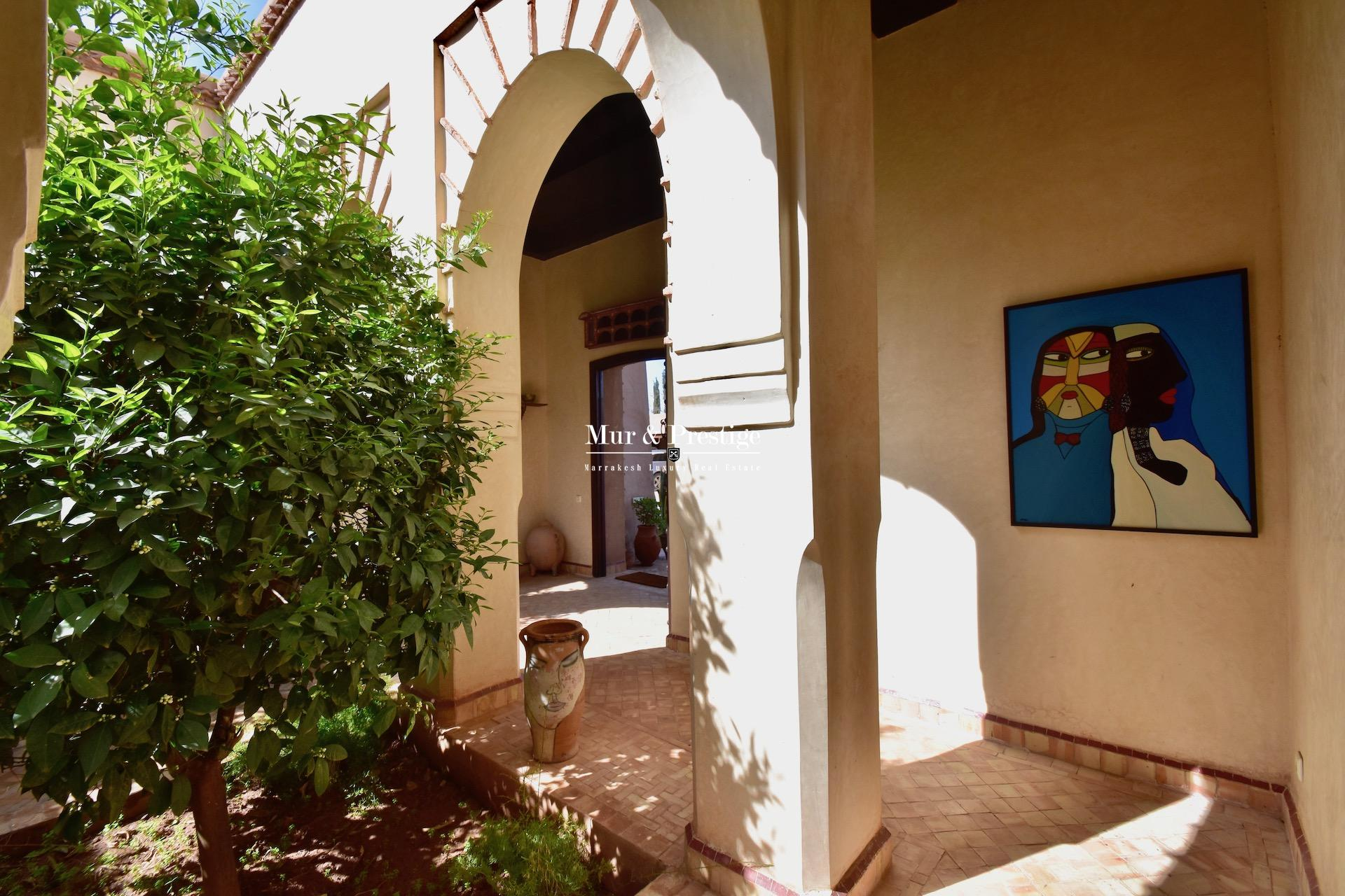 Maison de charme à vendre sur la route de l'Ourika à Marraekch