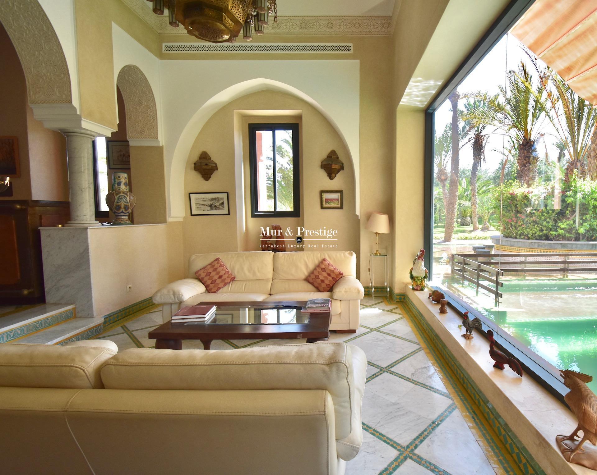Palais à lavente àla Palmeraie de Marrakech