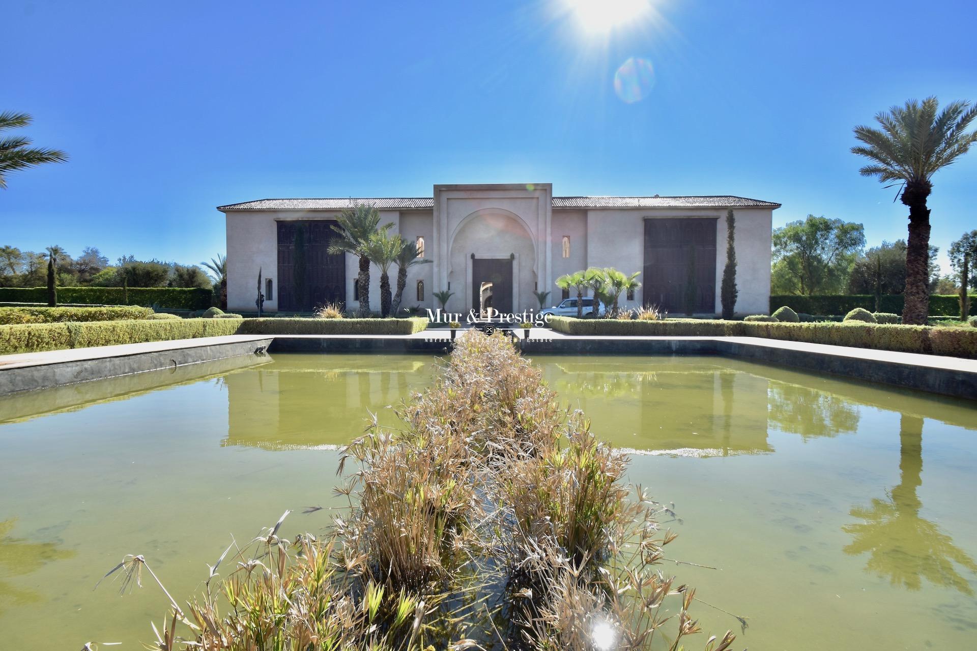 Palais d'hôtes à vendre à la Palmeraie Marrakech