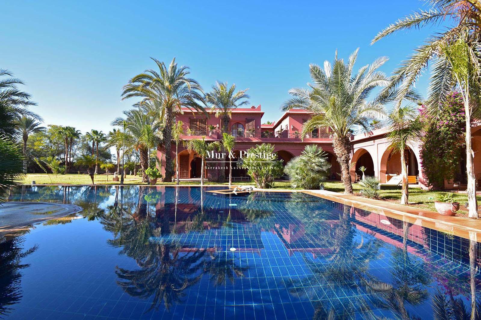 Prestigieuse demeure a vendre a la Palmeraie