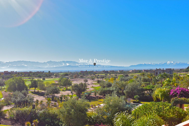 Vente villa en 1ère ligne de golf à Marrakech
