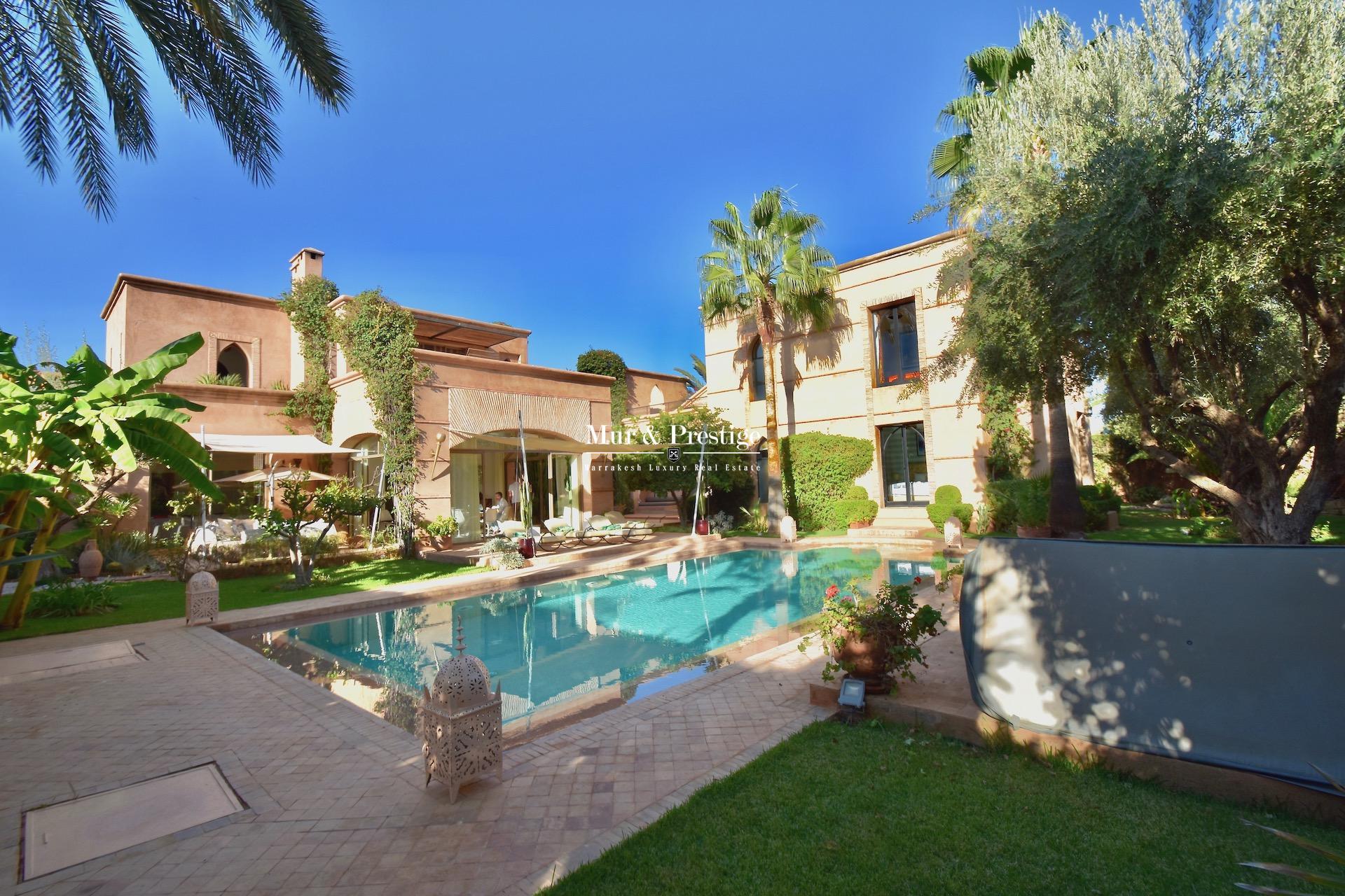 Agence Immobilière - Maison à vendre au golf Amelkis Marrakech