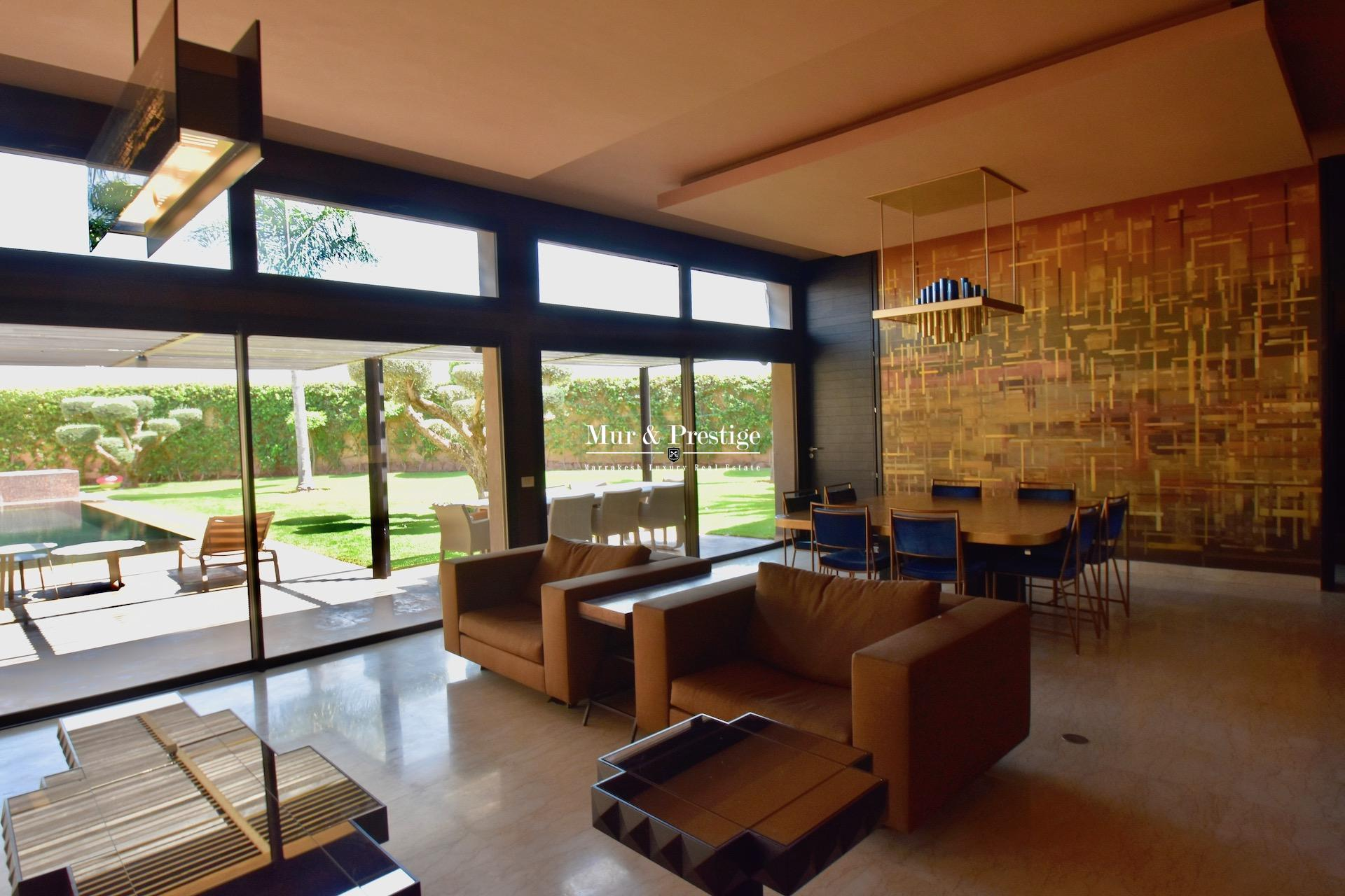 Vente villa de luxe sur le Golf de Al MAADEN à Marrakech