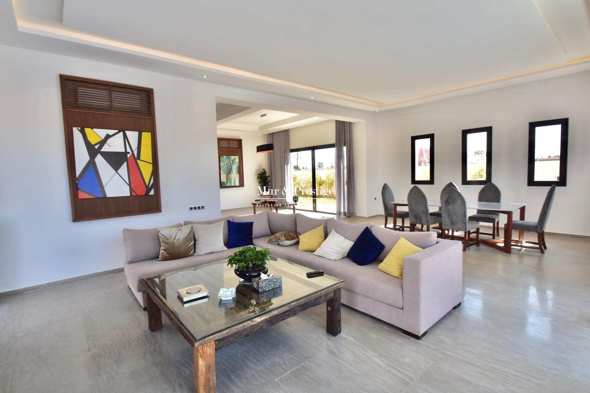 Vente maison golf Amelkis Marrakech , vue exceptionnelle sur le golf