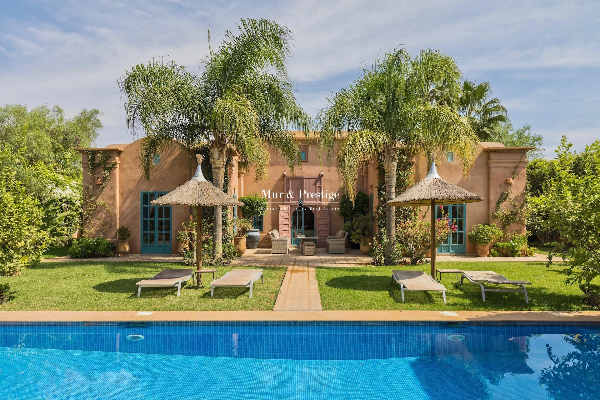 Villa en vente à Marrakech réalisée par l'architecte Charles Boccara