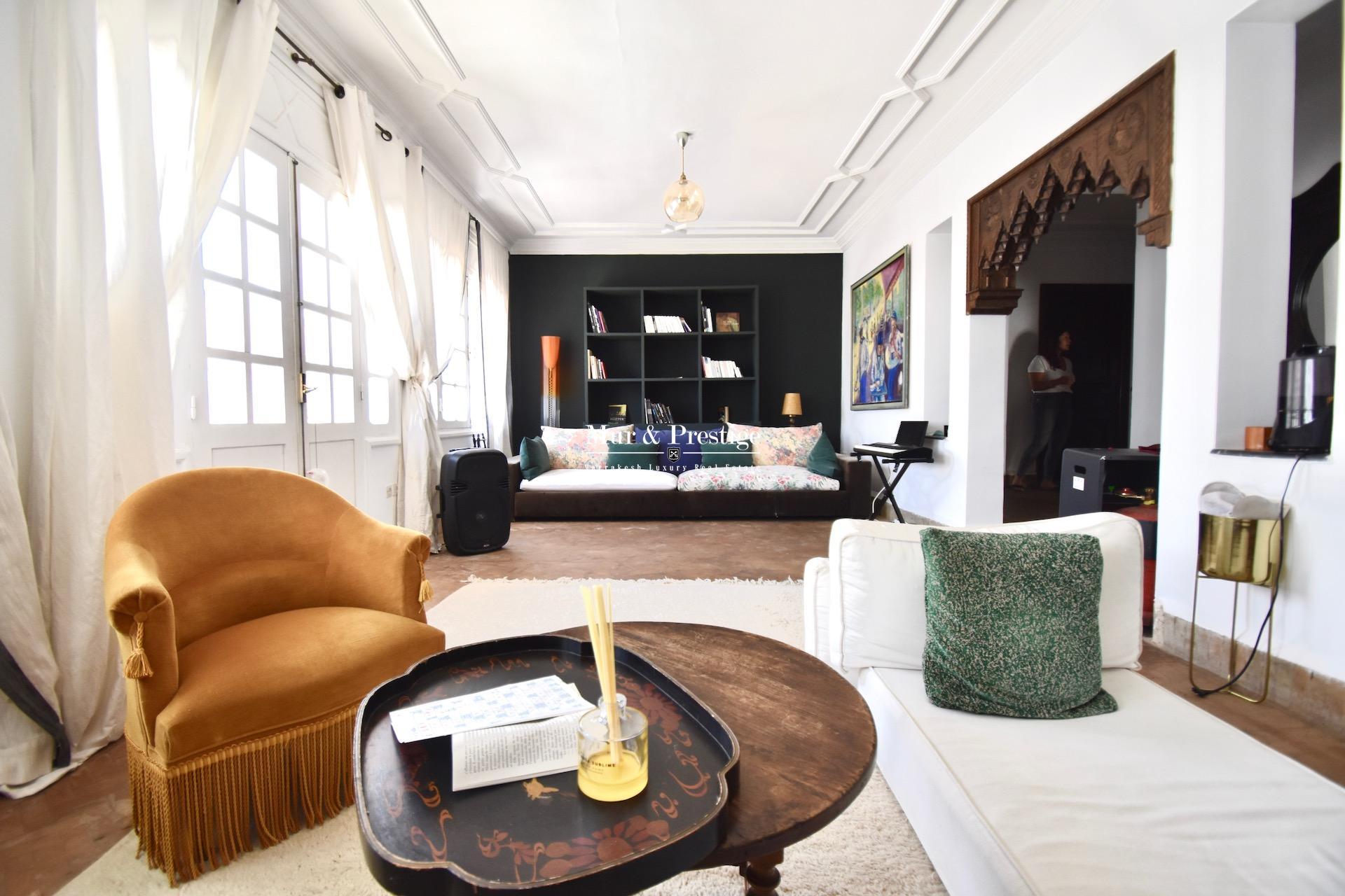 Vente appartement à Marrakech  4 chambres au cœur de Gueliz