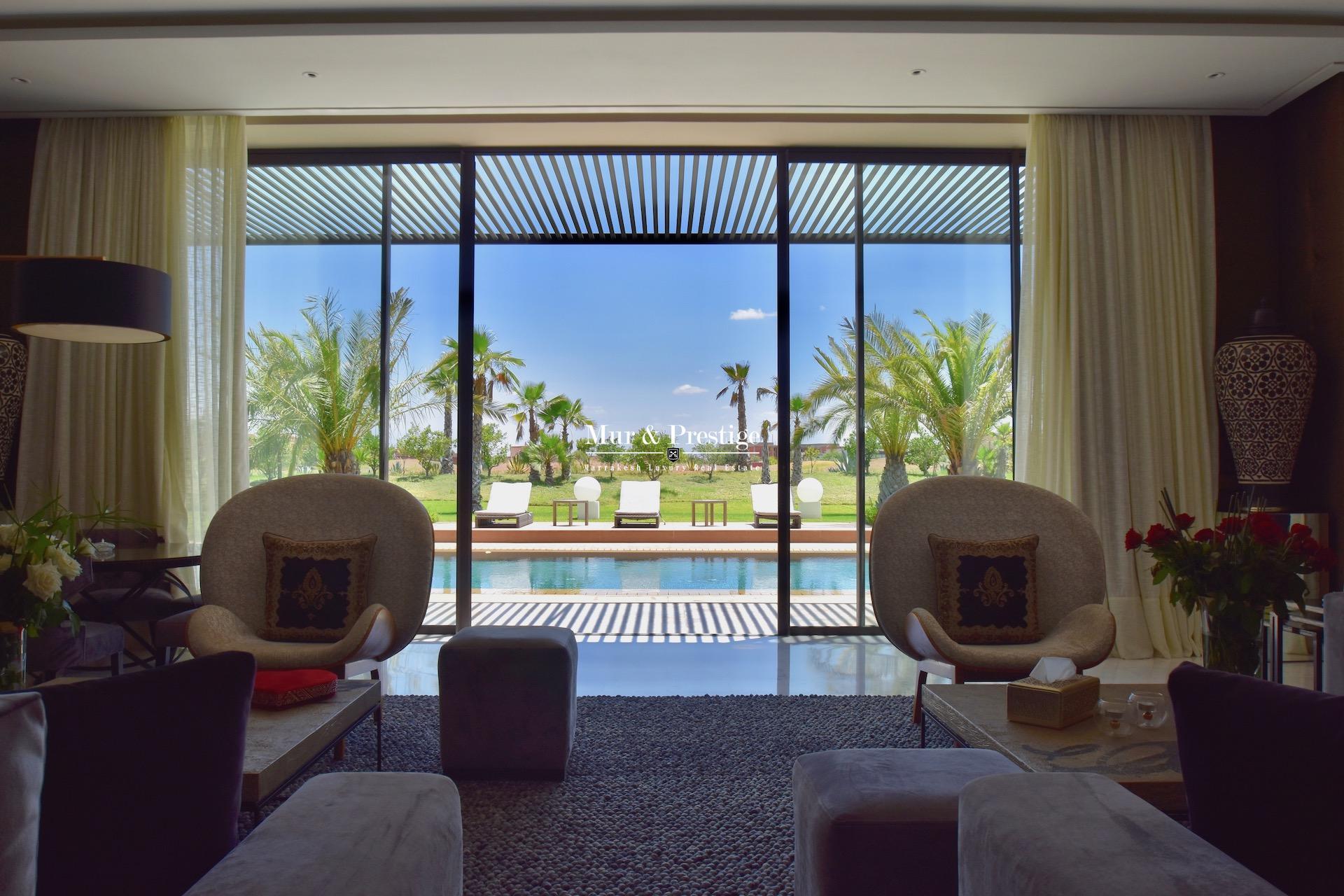 Maison moderne en vente sur le golf de Amelkis à Marrakech