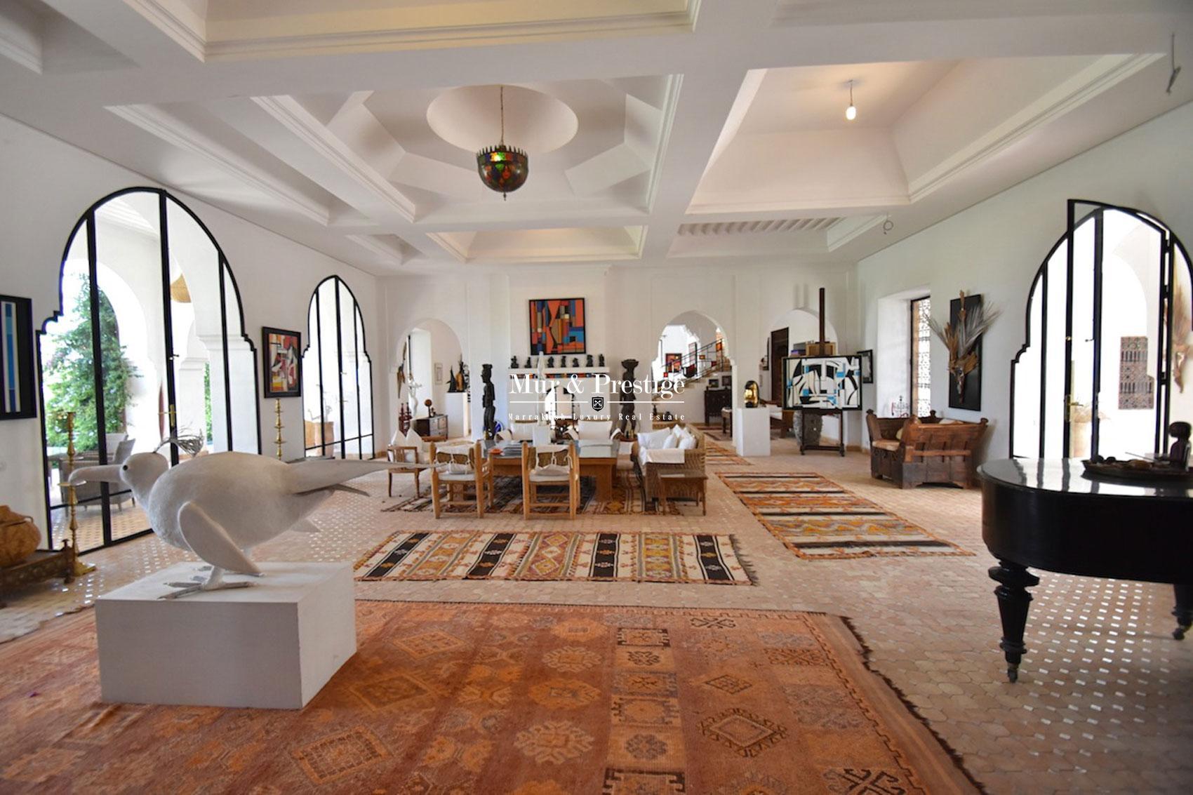 Villa avec cachet en vente sur la route d'Amizmiz