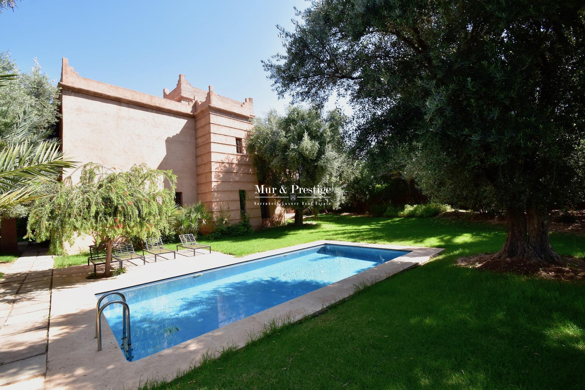 Maison à vendre à Marrakech à la Palmeraie