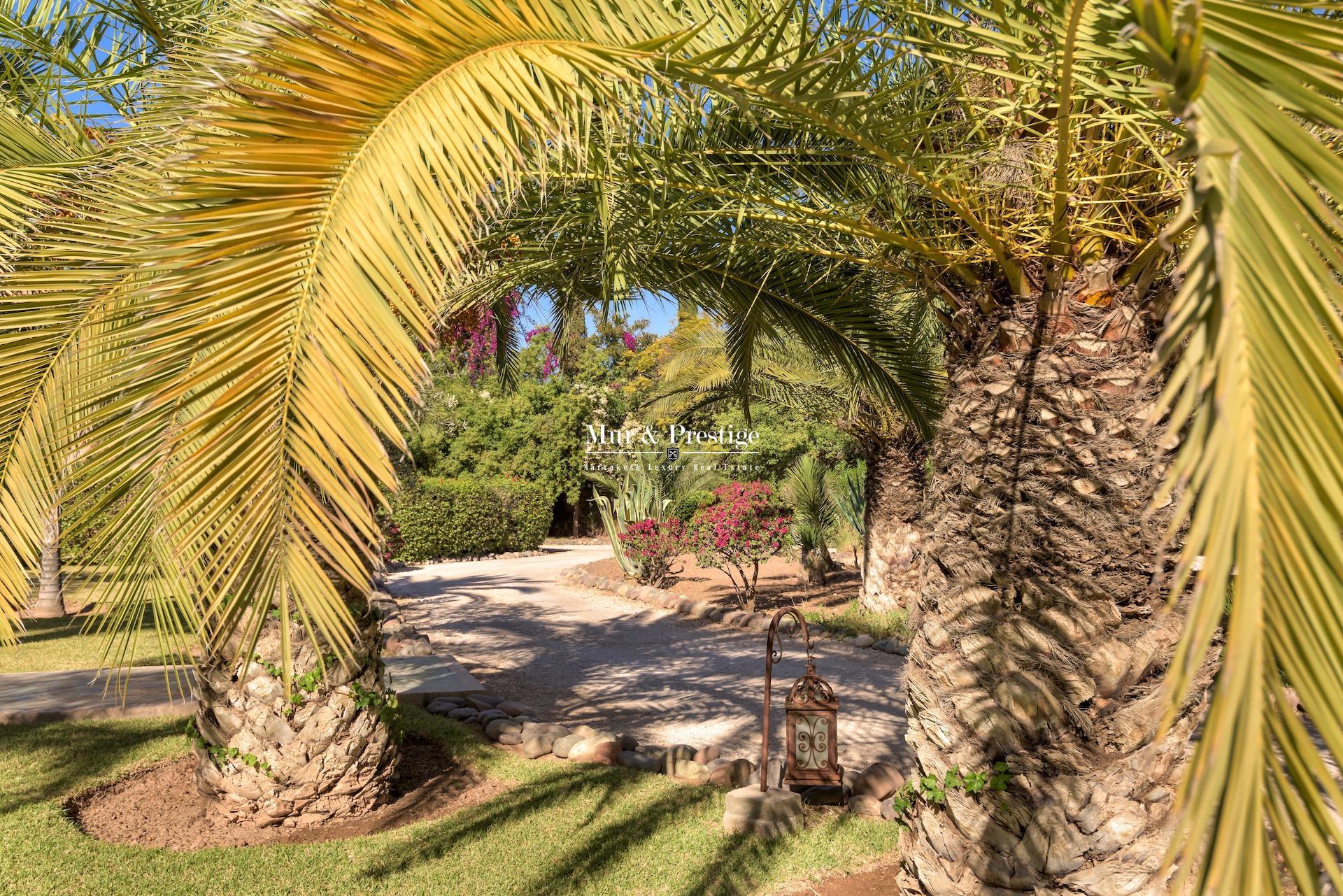 Villa à vendre au cœur de la Palmeraie à Marrakech